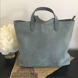Madewell Zip-Top Transport Small Tote in Nubuck